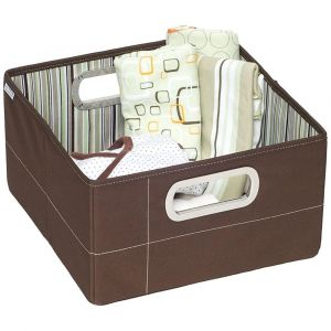 JJ Cole - Storage Box - Cocoa Stripe