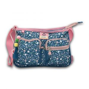 Joumma-Spain Small Blue Garden Shoulder Bag