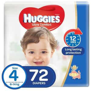 Huggies - Ultra Comfort, Size 4, Jumbo Pack, 72 Diapers