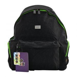 K2B Black and Green Backpack