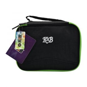 K2B Black and Green Lunch Bag