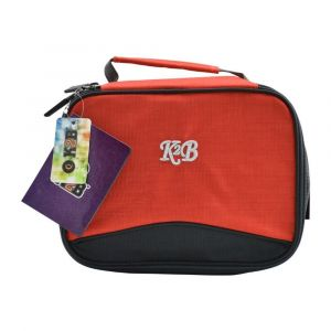 K2B Grey and Red Lunch Bag