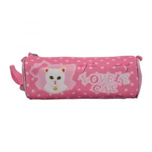 K2B Round Lovely Cat Pencil Case