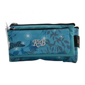 K2B Tripple Blue Buttrfly Pencil Case