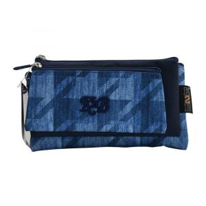 K2B Tripple Denim Blue Pencil Case