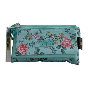 K2B Tripple Green Flower Pencil Case