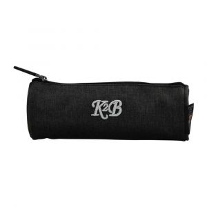 K2B Round Grey Pencil Case