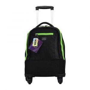 K2B 4 Wheel Black and Green Trolley Bag