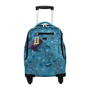 K2B 4 Wheel Blue Butterfly Trolley Bag