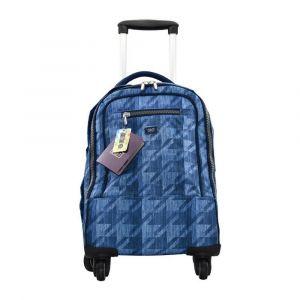 K2B 4 Wheel Denim Blue Trolley Bag