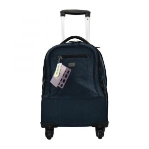 K2B 4 Wheel Navy Blue Trolley Bag