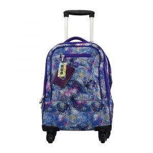 K2B 4 Wheel Purple Trolley Bag