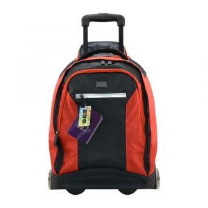 K2B Grey and Red Trolley Bag