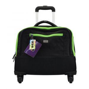 K2B Trolley Case 4 Wheel Black and Green Trolley Bag