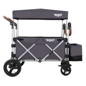 Keenz 7S Premium Deluxe Foldable Wagon-Stroller - Grey