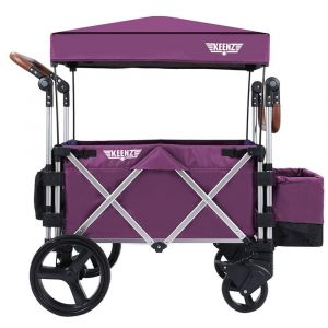 Keenz 7S Premium Deluxe Foldable Wagon-Stroller - Purple