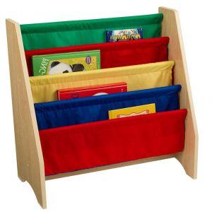 KidKraft - Sling Bookshelf Primary - Brown - Kids Toys