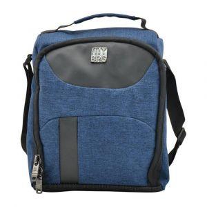 Kingwang-Italy Denim Blue and Black Lunch Bag