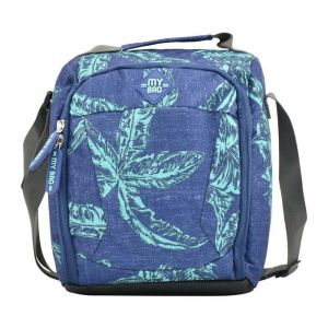 Kingwang-Italy Denim Blue and Green Lunch Bag