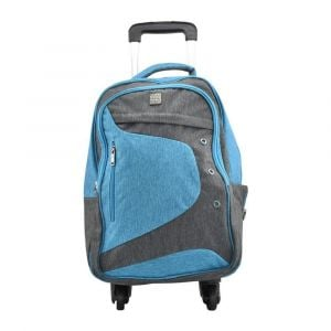 Kingwang-Italy 4 Wheel Blue and Gray Trolley Bag