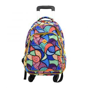 Kingwang-Italy 4 Wheel Multicolor Trolley Bag