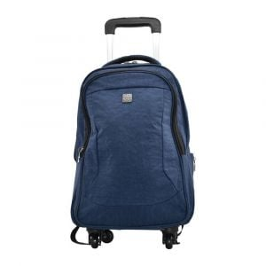 Kingwang-Italy 4 Wheel Navy Blue Trolley Bag