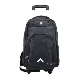 Kingwang-Italy 4 Wheel Black Trolley Bag