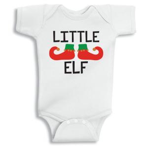 Twinkle Hands Little Elf Christmas Baby Onesie, Bodysuit, Romper