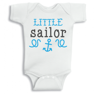 Twinkle Hands Little Sailor Baby Onesie, Bodysuit, Romper