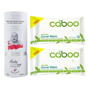 Baby Kingdom Body Cream 150ml + Free 2pcs Caboo Travel Wipes 10ct