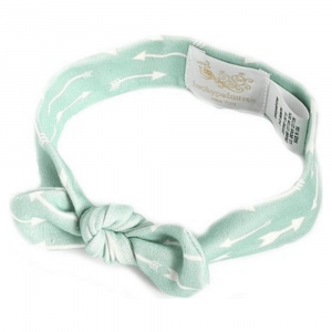 Lucky Palm Tree Mint Bycycle Organic Headband, 6-12m