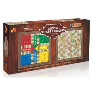 Toys Box Ludo Snakes And Ladder Premium Small