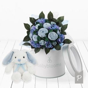 Baby Blooms Luxury Bouquet and Bunny - Blue