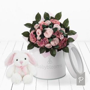 Baby Blooms Luxury Bouquet and Bunny - Pink