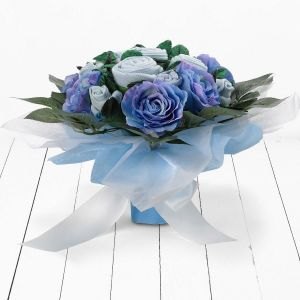 Baby Blooms Luxury Rose Bouquet - Blue
