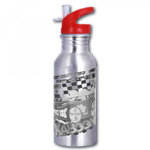 Magic Stainless Steel Red Racing Car Bottle - 600ml