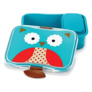 SkipHop Zoo Kid's Lunch Box Kit, Owl