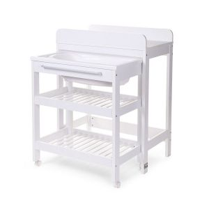 Childhome White Changing Table Tub Bucket and Bath