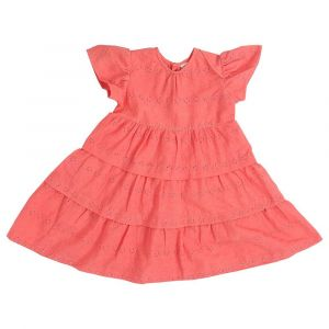 Mimmas World Hakoba Tiered Dress -Peach