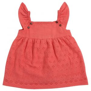 Mimmas World Scallop Dress - Peach