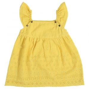 Mimmas World Scallop Dress - Yellow