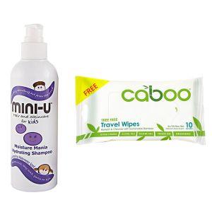 Mini U Moisture Mania Shampoo 250ml + Free Caboo Travel Wipes 10ct