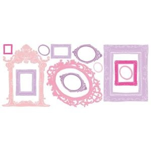 Room mates Pink And Purple Multi Frames Wall Decals