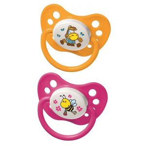 Nip Size 2 Family Latex Soother Bee-Zebra
