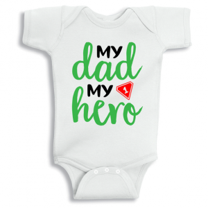 Twinkle Hands My Dad my number 1 hero Baby Onesie, Bodysuit, Romper