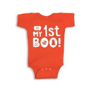 Twinkle Hands My First Boo Halloween Orange Baby Onesie, Bodysuit, Romper