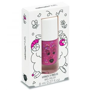 Nailmatic Kids Sheepy Clear Raspberry Glitter - Nail Polish