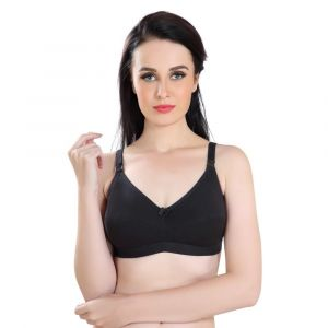 Napius Presents Black Kriti Maternity Nursing Bra - Pack of 2