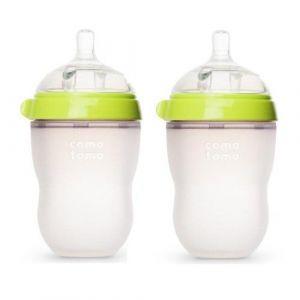 Comotomo - Natural Feel Baby Bottle - 2pcs - 250 ml - Green