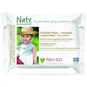 Naty Flushable wipes - 42 pcs